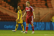 Middlesbrough midfielder Adam Clayton  during the Sky Bet Championship match between Middlesbrough and Burnley at the Riverside Stadium, Middlesbrough, England on 15 December 2015. Photo by Simon Davies.