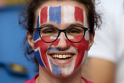 June 27, 2019 - Le Havre, France - Supporter of England during the 2019 FIFA Women's World Cup France Quarter Final match between Norway and England at  on June 27, 2019 in Le Havre, France. (Credit Image: © Jose Breton/NurPhoto via ZUMA Press)