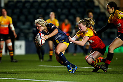 Lucy Lockhart of Worcester Warriors Women powers through to score a try - Mandatory by-line: Robbie Stephenson/JMP - 11/01/2020 - RUGBY - Sixways Stadium - Worcester, England - Worcester Warriors Women v Richmond Women - Tyrrells Premier 15s
