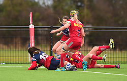 Daisie Mayes of Bristol Bears Women scores a try against Harlequins Ladies - Mandatory by-line: Paul Knight/JMP - 01/12/2018 - RUGBY - Shaftesbury Park - Bristol, England - Bristol Bears Women v Harlequins Ladies - Tyrrells Premier 15s