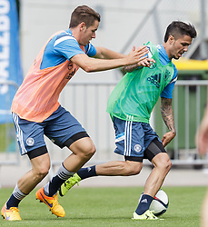 03.06.2015, Steinbergstadion, Leogang, AUT, U 21 EM, Vorbereitung Deutschland, im Bild v.l.: Christian Guenter (SC Freiburg, Deutschland U21), Leonardo Bittencourt (Hannover 96, Deutschland U21) // during Trainingscamp of Team Germany for Preparation of the UEFA European Under 21 Championship at the Steinbergstadium in Leogang, Austria on 2015/06/03. EXPA Pictures © 2015, PhotoCredit: EXPA/ JFK