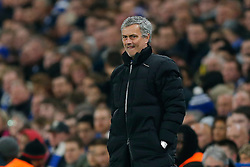 Chelsea Manager Jose Mourinho looks frustrated - Photo mandatory by-line: Rogan Thomson/JMP - 07966 386802 - 11/03/2015 - SPORT - FOOTBALL - London, England - Stamford Bridge - Chelsea v Paris Saint-Germain - UEFA Champions League Round of 16 Second Leg.
