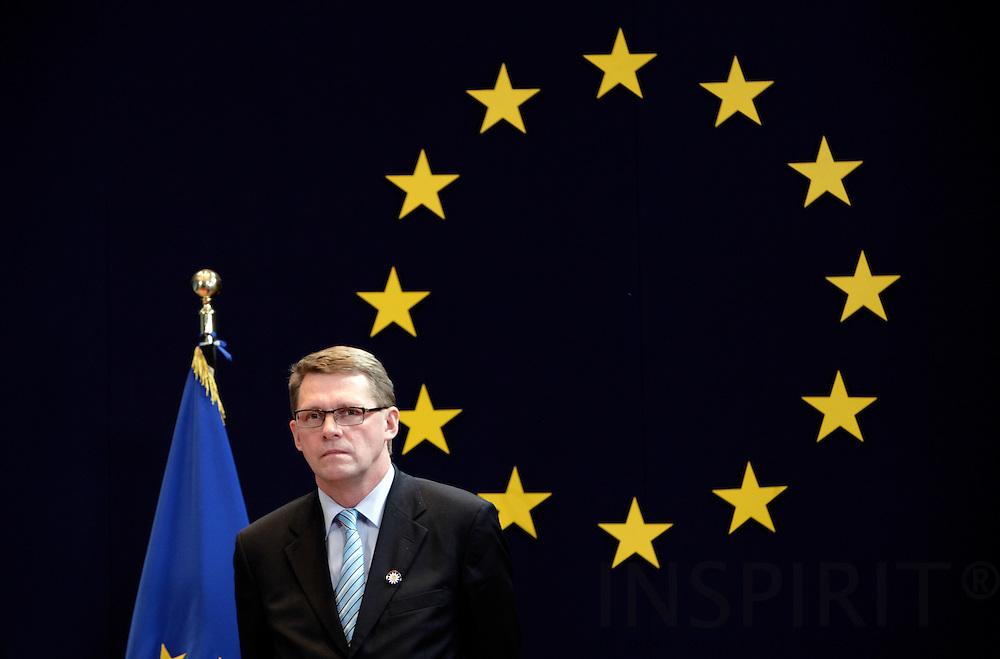 BRUSSELS - BELGIUM - 14 DECEMBER 2006 -- Prime Minister Matti VANHANEN. EUP44     PHOTO: ERIK LUNTANG