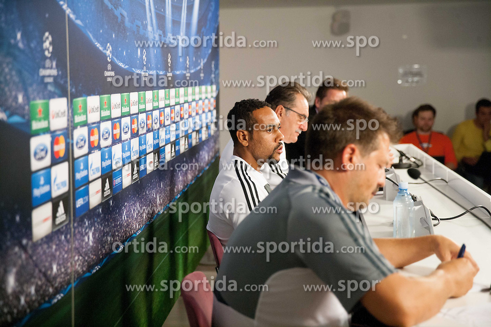 Marco Tavares and coach Ante Cacic during press conference of football team NK Maribor 1 day before of UEFA Champions League 2013/14 Play-Offs, Second Leg match on August 27, 2013 in Stadium Ljudski vrt, Maribor, Slovenia. (Photo by Vid Ponikvar / Sportida.com)