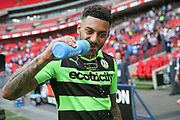 \Two goal hero Forest Green Rovers Kaiyne Woolery(14) during the Vanarama National League Play Off Final match between Tranmere Rovers and Forest Green Rovers at Wembley Stadium, London, England on 14 May 2017. Photo by Shane Healey.