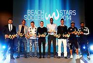 DUBAI, UNITED ARAB EMIRATES - NOVEMBER 07: Samsung Beach Soccer Intercontinental Cup 2014 at Dubai International Marine Club on November 07, 2014 in Dubai, United Arab Emirates. (Photo by Manuel Queimadelos Alonso)