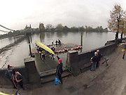 London, Great Britain, Leander Boat from 6 Lower Mall Boathouse, Hammersmith, British Rowing HQ for the  Fullers,  Fours Head of the River Race, Championship Course, Mortlake to Putney, River Thames Saturday - - 05/11/2011 [Mandatory Credit. Peter Spurrier/Intersport Images]