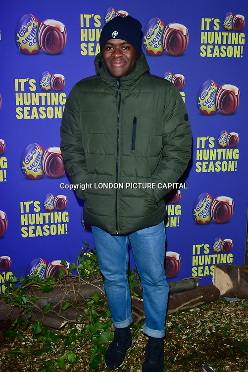 Liam Charles arrives at the Creme Egg Camp - grand opening at its Shoreditch pop-up with an evening of themed cocktails and treats on 18th January 2018, London, UK.