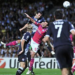 27.09.2011, Stade de Gerland, Lyon, FRA, UEFA CL, Gruppe D, Olympique Lyon (FRA) vs Dinamo Zagreb (CRO), im Bild Tonel (13), Dejan Lovren (5) // during the UEFA Champions League game, group D, Olympique Lyon (FRA) vs Dinamo Zagreb (CRO) at de Gerland stadium in Lyon, France on 2011/09/27. EXPA Pictures © 2011, PhotoCredit: EXPA/ nph/ Pixsell +++++ ATTENTION - OUT OF GERMANY/(GER), CROATIA/(CRO), BELGIAN/(BEL) +++++