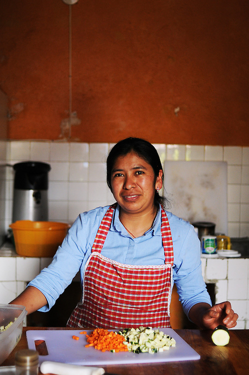 Rosie one of the cooks at Black Cat Hostel Xela.