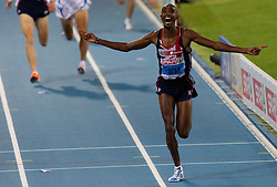 Mo Farah of Great Britain wins the gold medal in the Mens 10000m Final during day one of the 20th European Athletics Championships at the Olympic Stadium on July 27, 2010 in Barcelona, Spain. (Photo by Vid Ponikvar / Sportida)