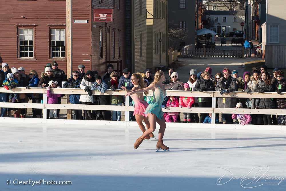 Alex Murphy and Lara Shelton perform with Ice Dance International at Strawbery Banke, Portsmouth NH on Jan 14, 2017