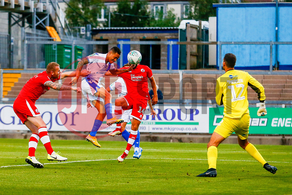 Kyle Bennett of Bristol Rovers heads the ball towards goal  - Mandatory by-line: Ryan Hiscott/JMP - 14/08/2018 - FOOTBALL - Memorial Stadium - Bristol, England - Bristol Rovers v Crawley Town - Carabao Cup