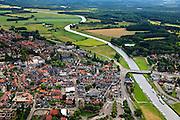Nederland, Overijssel, Ommen, 30-06-2011;.Ommen aan de Overijsselsche Vecht. The village of Ommen at the river Overijsselsche Vecht..luchtfoto (toeslag), aerial photo (additional fee required).copyright foto/photo Siebe Swart