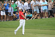 Matt Wallace (ENG) on the 18th fairway during the 3rd round of the DP World Tour Championship, Jumeirah Golf Estates, Dubai, United Arab Emirates. 17/11/2018<br /> Picture: Golffile | Fran Caffrey<br /> <br /> <br /> All photo usage must carry mandatory copyright credit (© Golffile | Fran Caffrey)