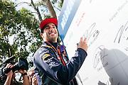 Daniel RICCIARDO, AUS, RedBull Racing, <br /> Australian F1 GP Thursday 12th March 2015 Albert Park, Melbourne. Driver's portrait, F1-Fahrer Portrait  <br /> AUSTRALIAN Formula One Grand Prix 2015, Albert Park  - <br /> Formel 1 Rennen in Australien, Motorsport, F1 GP, Honorarpflichtiges Foto, Fee liable image, <br /> Copyright © ATP Damir IVKA