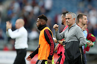 Football - 2018 / 2019 Premier League - Burnley vs. Manchester United<br /> <br /> Manchester United manager Jose Mourinho clenches his fist in celebration following the full time whistle at Turf Moor.<br /> <br /> COLORSPORT/PAUL GREENWOOD