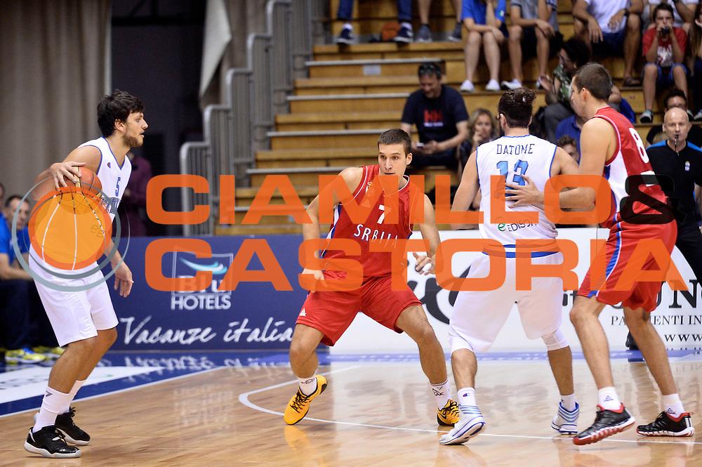 DESCRIZIONE : Trieste Nazionale Italia Uomini Torneo internazionale Italia Serbia Italy Serbia<br /> GIOCATORE : Alessandro Gentile Luigi Datome<br /> CATEGORIA : Palleggio Blocco Controcampo Sequenza<br /> SQUADRA : Italia Italy<br /> EVENTO : Torneo Internazionale Trieste<br /> GARA : Italia Serbia Italy Serbia<br /> DATA : 05/08/2014<br /> SPORT : Pallacanestro<br /> AUTORE : Agenzia Ciamillo-Castoria/GiulioCiamillo<br /> Galleria : FIP Nazionali 2014<br /> Fotonotizia : Trieste Nazionale Italia Uomini Torneo internazionale Italia Serbia Italy Serbia
