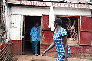 A local butcher shop located in Kibera slum, Nairobi