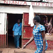 A local butcher shop located in Kibera slum, Nairobi