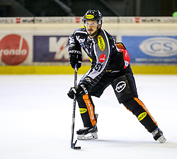 18.09.2015, Messestadion, Dornbirn, AUT, EBEL, Dornbirner Eishockey Club vs EC Red Bull Salzburg, 3. Runde, im Bild Robert Lembacher (Dornbirner Eishockey Club) // during the Erste Bank Icehockey League 3rd round match between Dornbirner Eishockey Club vs EC Red Bull Salzburg at the Messestadion in Dornbirn, Austria on 2015/09/18. EXPA Pictures © 2015, PhotoCredit: EXPA/ Peter Rinderer
