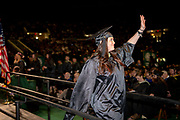 CeCe Chavez waves to supporters after receiving her masters degree. Photo by Ben Siegel