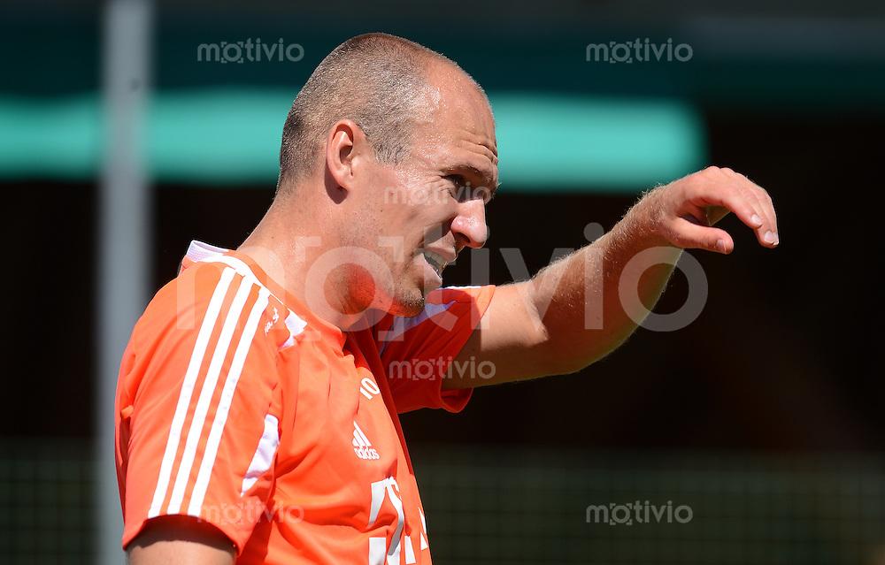 Fussball 1. Bundesliga:  Saison  Vorbereitung 2012/2013     Trainingslager des FC Bayern Muenchen 16.07.2012 Arjen Robben (FC Bayern Muenchen)