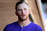 SCOTTSDALE, AZ - FEBRUARY 25:  Trevor Story #27 of the Colorado Rockies walks through the dugout during the spring training game against the Arizona Diamondbacks at Salt River Fields at Talking Stick on February 25, 2017 in Scottsdale, Arizona.  (Photo by Jennifer Stewart/Getty Images)