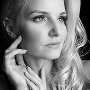 Liz Ashley portrait.  Black and White.