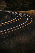 Curve of Railway Tracks, near Bathurst, NSW, Australia