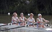 "Henley on Thames. Henley. GREAT BRITAIN;  GBR LW4-. <br /> <br /> 1995 Women's Henley Regatta. Henley Reach. River Thames.<br /> <br /> [Mandatory Credit; ""Photo, Peter Spurrier/Intersport-images]"