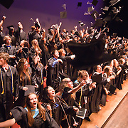 060311 Wilmington DE: Cab Calloway students celebrate by tossing thier caps in the air during the final moments of Cab Calloway commencement exercise Friday, June 3, 2011 at The Grand Opera House In Wilmington Delaware.<br />