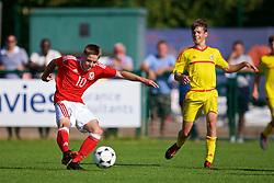 NEWPORT, WALES - Wednesday, July 25, 2018: Cian Ashford during the Welsh Football Trust Cymru Cup 2018 at Dragon Park. (Pic by Paul Greenwood/Propaganda)