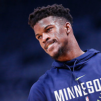05 April 2018: Minnesota Timberwolves guard Jimmy Butler (23) warms up prior to the Denver Nuggets 100-96 victory over the Minnesota Timberwolves, at the Pepsi Center, Denver, Colorado, USA.