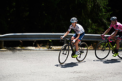 Ashleigh Moolman Pasio (RSA) leads up Monte Zoncolan at Giro Rosa 2018 - Stage 9, a 104.7 km road race from Tricesimo to Monte Zoncolan, Italy on July 14, 2018. Photo by Sean Robinson/velofocus.com