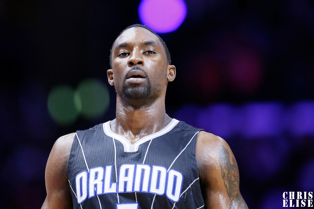 03 December 2014: Orlando Magic guard Ben Gordon (7) rests during the Los Angeles Clippers 114-86 victory over the Orlando Magic, at the Staples Center, Los Angeles, California, USA.
