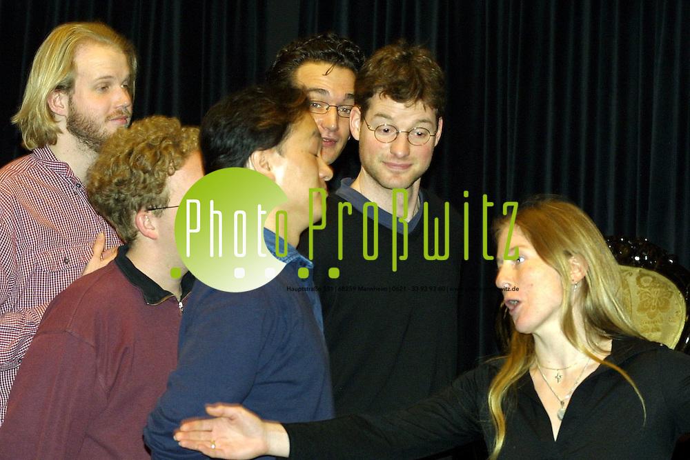 Mannheim. UNI Musikhochschule. Theaterproben Die Lustige Witwe<br /> <br /> Bild: Pro&szlig;witz