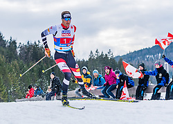 02.03.2019, Seefeld, AUT, FIS Weltmeisterschaften Ski Nordisch, Seefeld 2019, Nordische Kombination, Langlauf, Team Bewerb 4x5 km, im Bild Bernhard Gruber (AUT) // Bernhard Gruber of Austria during the Cross Country Team competition 4x5 km of Nordic Combined for the FIS Nordic Ski World Championships 2019. Seefeld, Austria on 2019/03/02. EXPA Pictures © 2019, PhotoCredit: EXPA/ Stefan Adelsberger