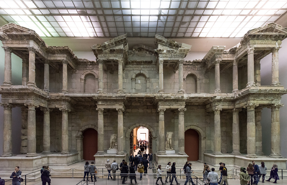 The Market Gate of Miletus rebuilt within the Pergamon Museum in Berlin.