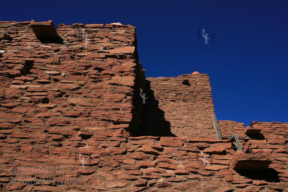 Stone facade of Hopi House in Grand Canyon Village; South Rim, Grand Canyon National Park, Arizona.