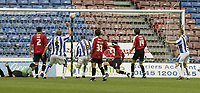 Photo: Aidan Ellis.<br /> Huddersfield Town v Bristol City. Coca Cola League 1. 12/08/2006.<br /> Huddersfield's Pawel Abbott scores the winning goal