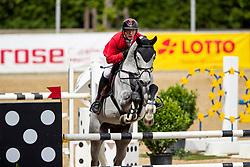 MEYER Tobias (GER), Cerosino<br /> Mannheim - Maimarkt Turnier 2019<br /> Preis der BROSE Unternehmensgruppe GmbH & Co.KG, Coburg<br /> Int. Springprüfung mit Stechen (1.45-1,50 m) <br /> CSIYH1*<br /> Finale 7- und 8jährige Pferde<br /> 07. Mai 2019<br /> © www.sportfotos-lafrentz.de/Stefan Lafrentz