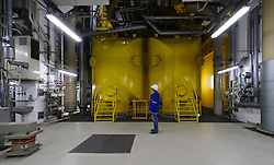 An RWE employee works at the nuclear power plant, in Lingen, Germany, on Tuesday, Sept. 6, 2011. (Photo © Jock Fistick)