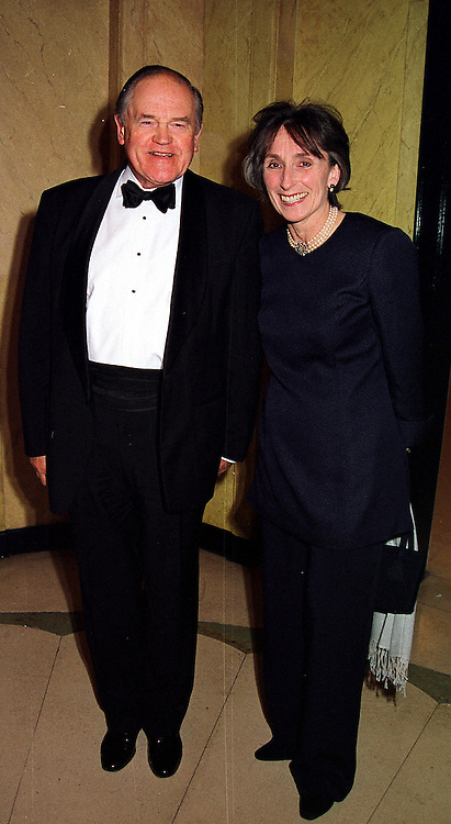 LORD &amp; LADY ARMSTRONG OF ILMINSTER he is the former Secretary to the Cabinet and head of the Civil Service,  at a dinner in London on 29th February 2000.<br /> OBS 73