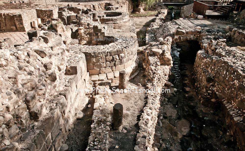 The excavation of the Roman ruins of Tiberias, The ruins are south of Todays Tiberias, Israel. The gatehouse and entrance