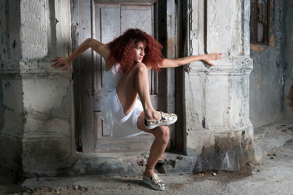 Yelda Levya Cuban dancer, member of Danza Contemporánea de Cuba