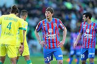 Emiliano SALA - 05.04.2015 - Nantes / Caen - 31eme journee de Ligue 1<br />Photo : Vincent Michel / Icon Sport
