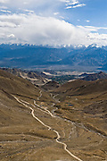 Leh town in the distance from Khardung-La Pass, 18,380 ft.