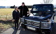 Blenheim-Kim Dotcom visits Waihopai Spy base