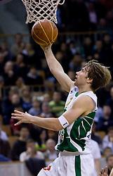 Pawel Kikowski (11) of Olimpija at basketball match of 4th Round of NLB League between KK Union Olimpija and KK Crvena zvezda,  on October 24, 2009, Arena Tivoli, Ljubljana, Slovenia.  Union Olimpija won 94:76.  (Photo by Vid Ponikvar / Sportida)